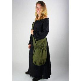 Borsa a tracolla tessile, verde