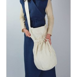 Textile shoulder bag, cream