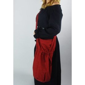 Tekstylna torba na ramię, czerwona