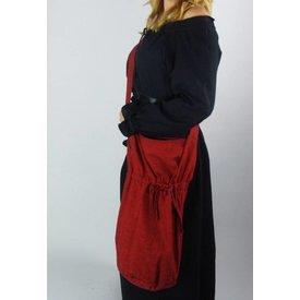 Textil axelväska, röd