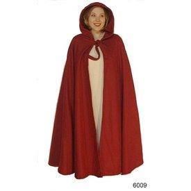 Leonardo Carbone Manto medieval con capucha, rojo.