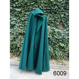 Medieval cloak with hood, green