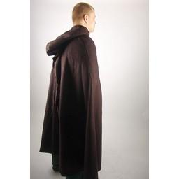 Middeleeuwse mantel met kap, bruin