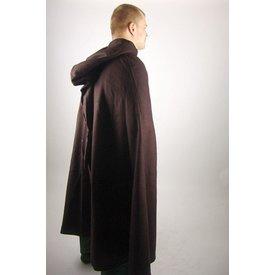 Leonardo Carbone Średniowieczny płaszcz z kapturem, brązowy