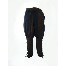 Pantaloni di Landsknecht Gustav, marrone-nero