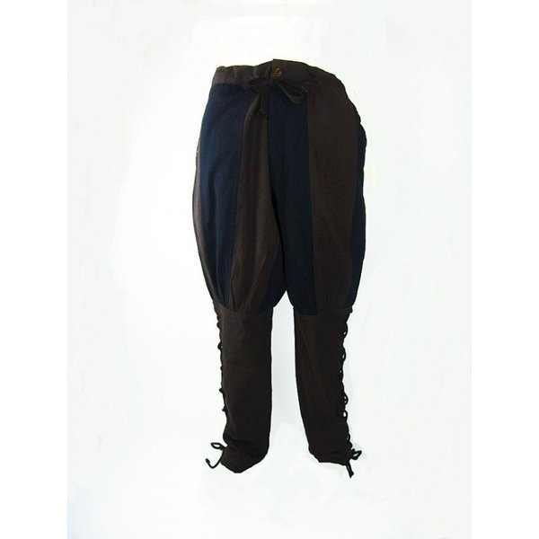 Leonardo Carbone Landsknecht trousers Gustav, brown-black