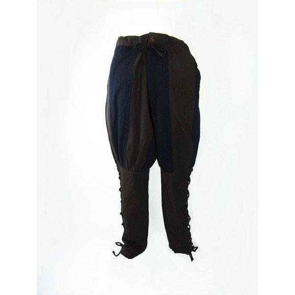 Pantalones Landsknecht Gustav, marrón-negro