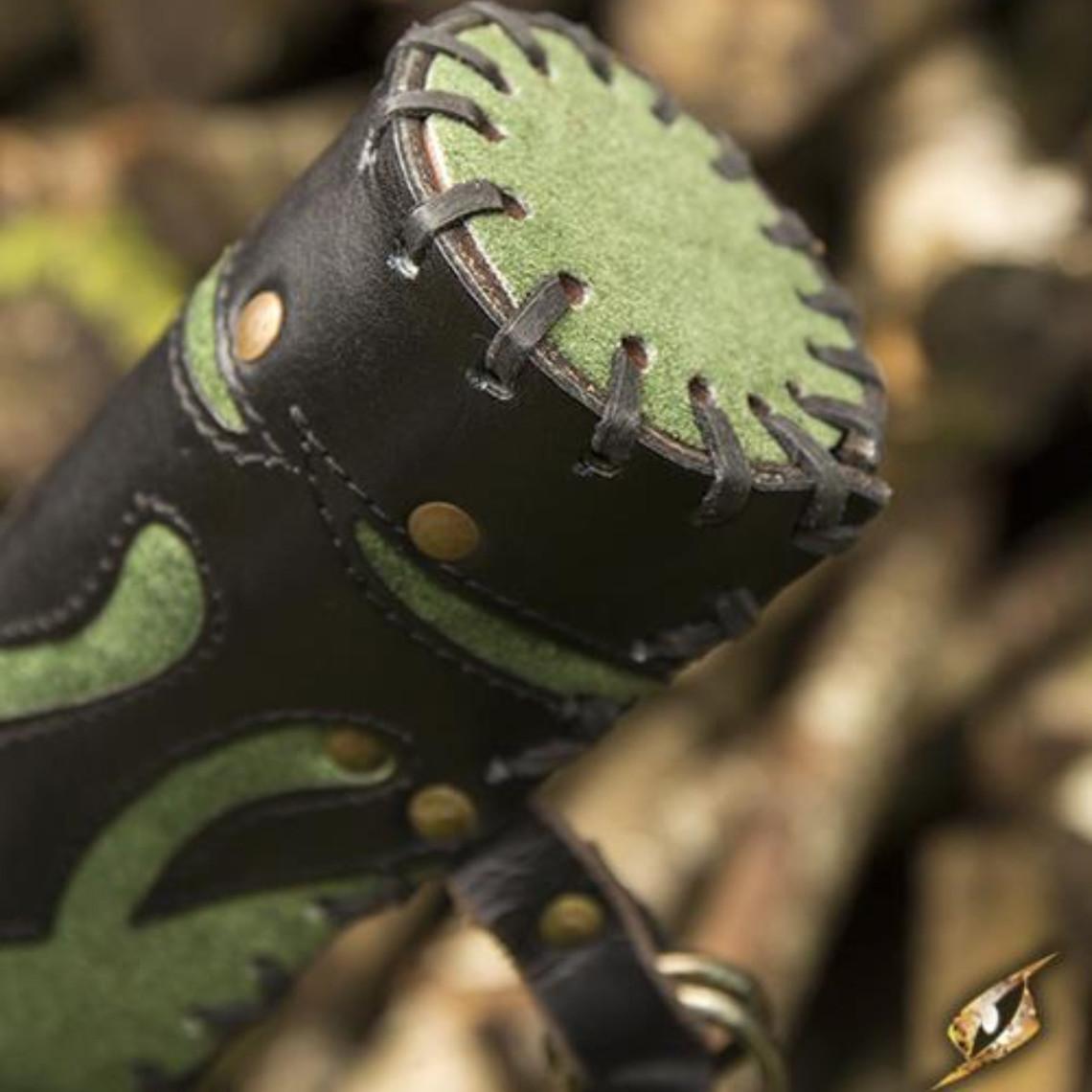 Epic Armoury Quiver Atilla, negro-verde