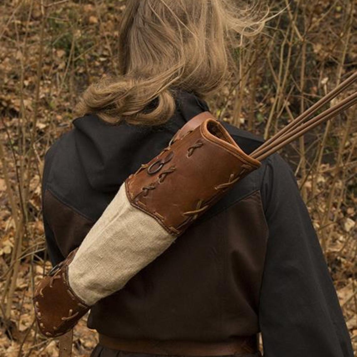 Epic Armoury Carcaj Artemis, marrón