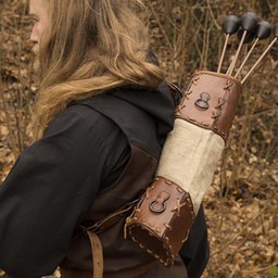 Carcaj Artemis, marrón