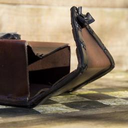 Bolso de piel de viajero, marrón.