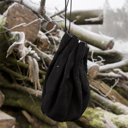 Leather pouch Michelangelo, black