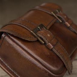 Cinturón de cuero bolso Niccola, marrón