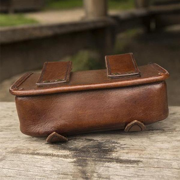 Epic Armoury Læderremtaske Niccola, brun