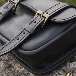 Skórzana torba na pasek Niccola, czarna