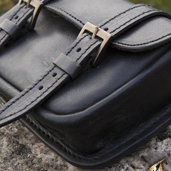 Epic Armoury Læderbæltepose Niccola, sort