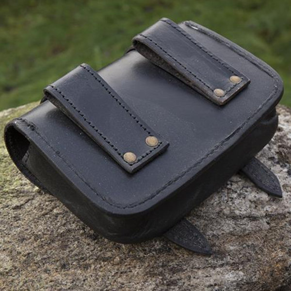 Epic Armoury Sac ceinture en cuir Niccola, noir