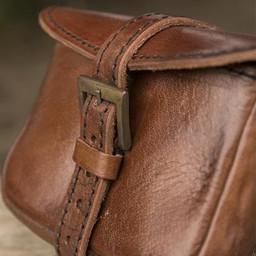 Bolso bandolera de piel Agostino, marrón