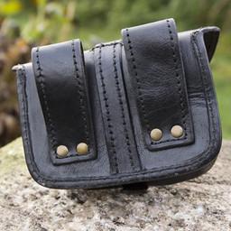 Leather belt bag Agostino, black