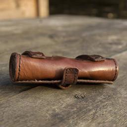 Potionhållare med tre flaskor, brun