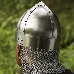Viking spangenhelm with chainmail