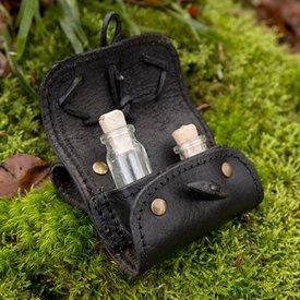 Epic Armoury Porta pociones con dos botellas, negro.