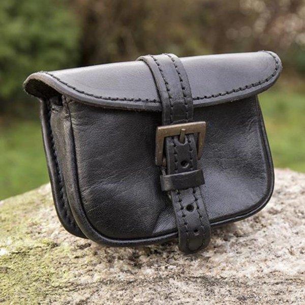 Epic Armoury Læderbæltepose Agostino, sort