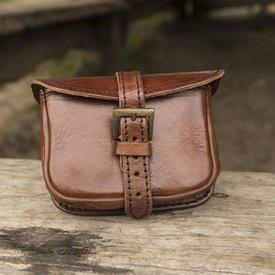 Epic Armoury Läderbältepåse Agostino, brun