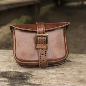 Epic Armoury Leather belt bag Agostino, brown