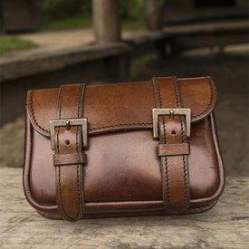 Epic Armoury Cinturón de cuero bolso Niccola, marrón