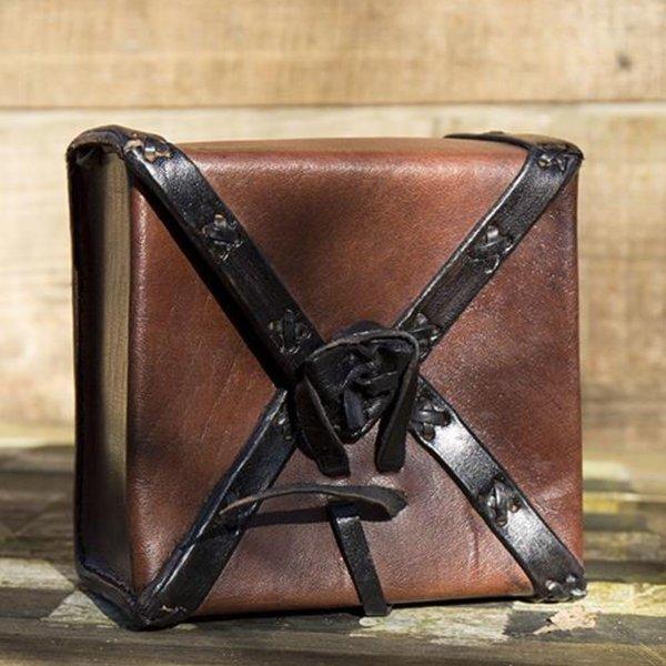 Epic Armoury Læder taske rejsende, brun