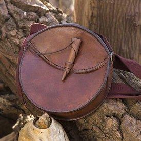 Epic Armoury Bolso de cuero redondo, marrón
