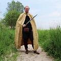 Leonardo Carbone Katoenen mantel, honingbruin