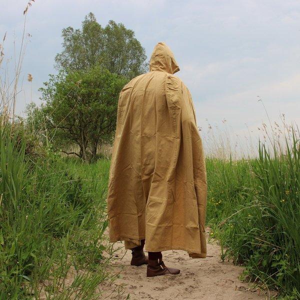 Cotton cloak, honey brown