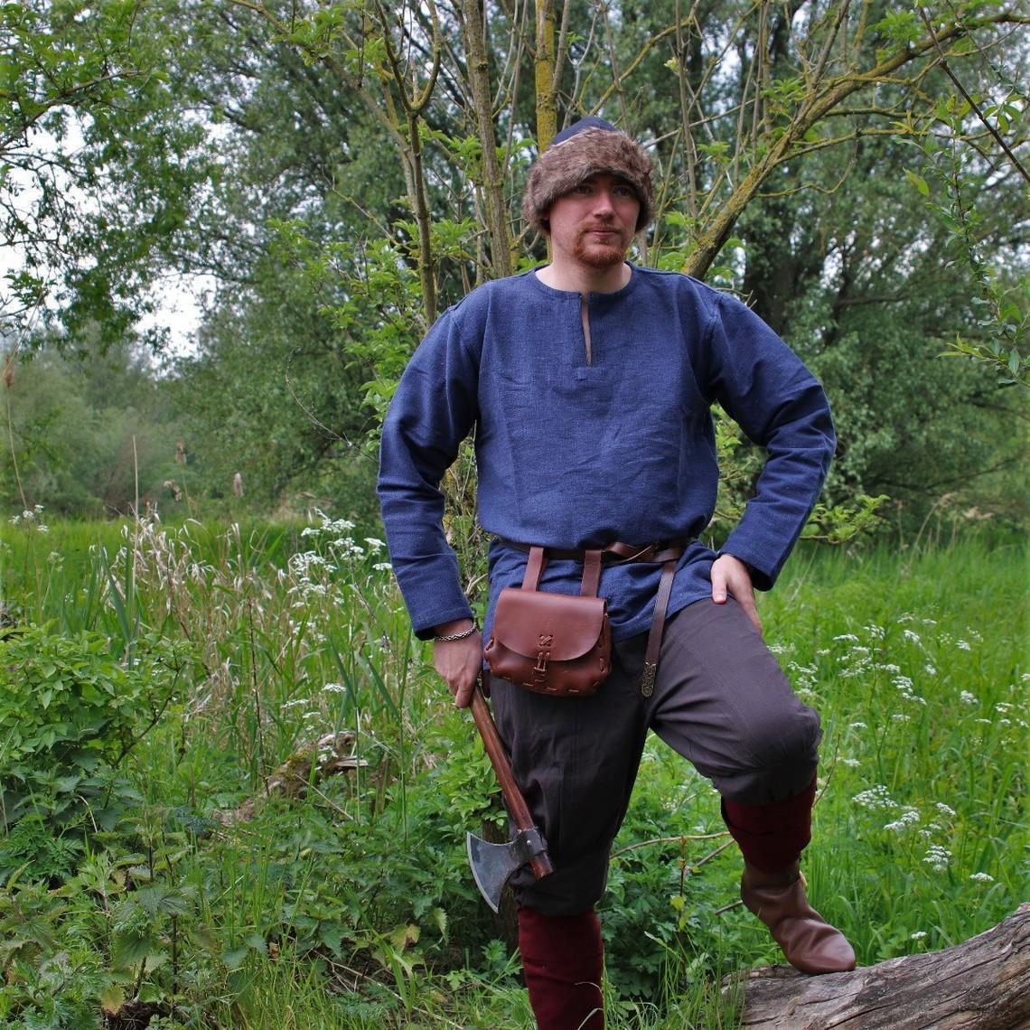 Leonardo Carbone Túnica vikingo Hans, azul