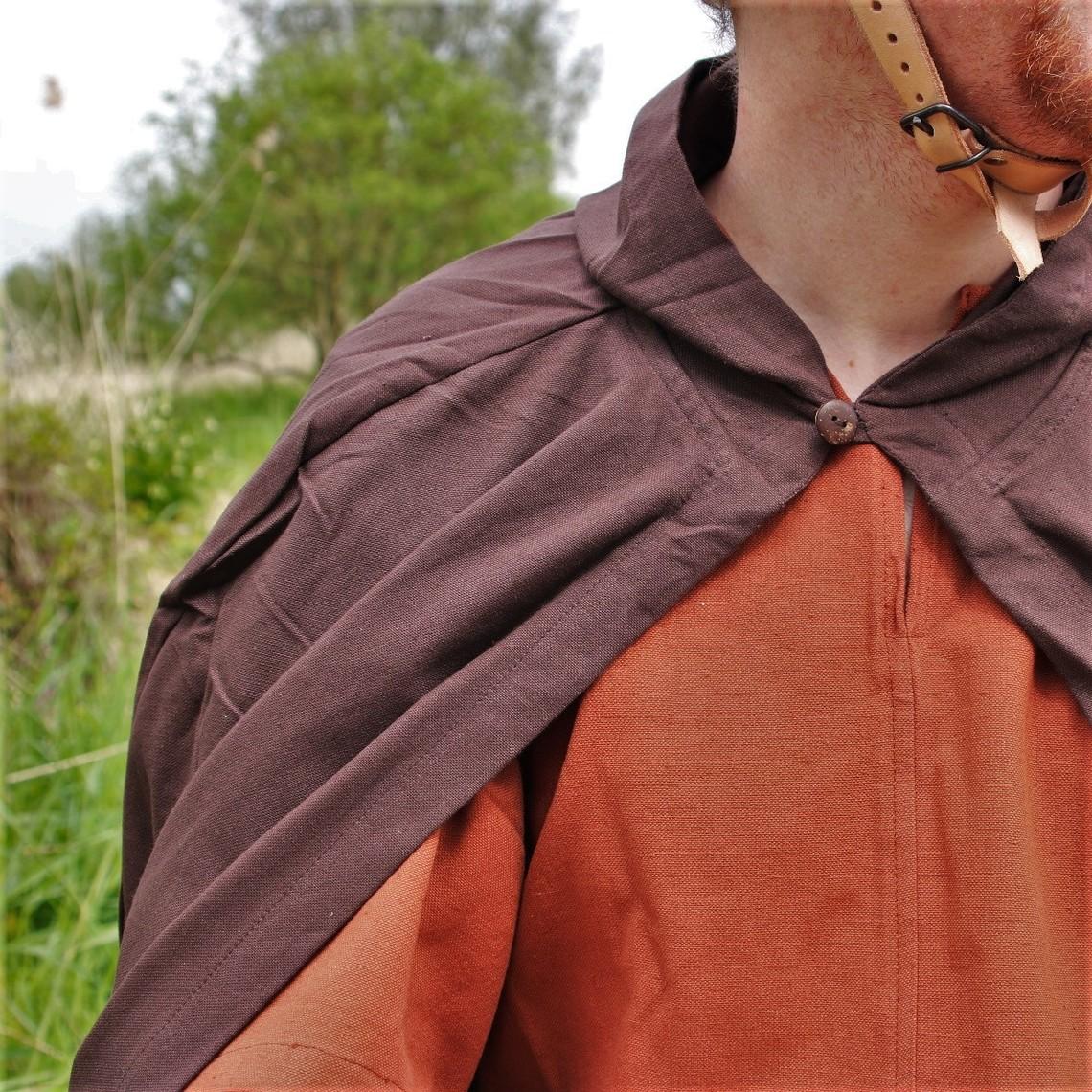 Leonardo Carbone Mantello di cotone, marrone scuro