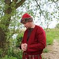 Leonardo Carbone Czapka Wikingów Birka, czerwona
