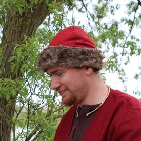 Czapka Wikingów Birka, czerwona
