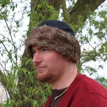 Birka tunic Knut, short sleeves, brown