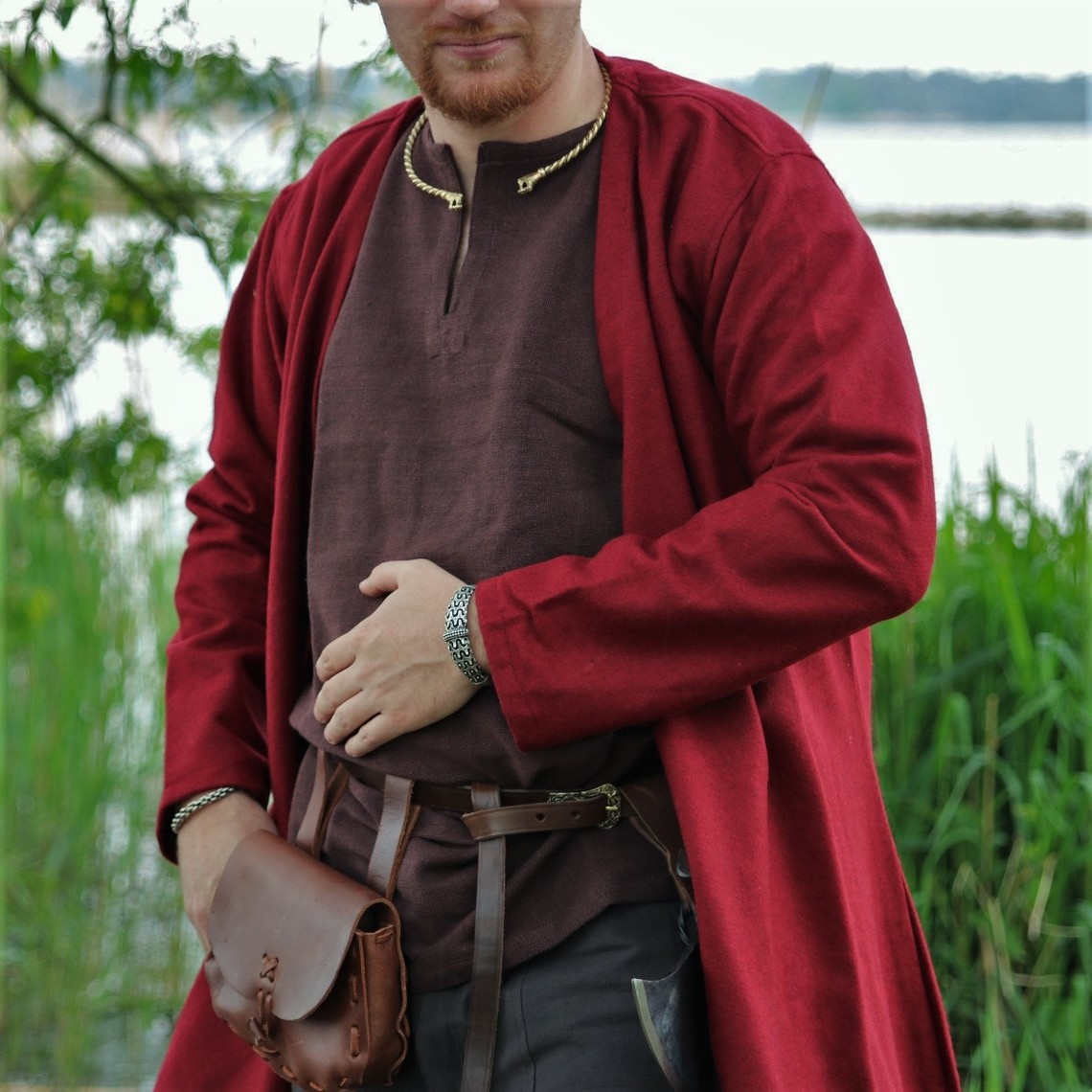 Leonardo Carbone Kaftan Gustav, rojo