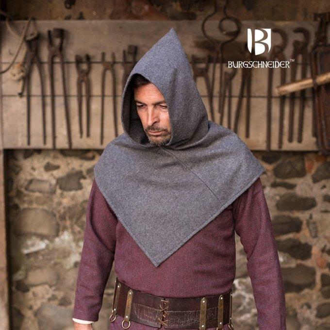 Kaproen Skjoldehamm, wol, grijs