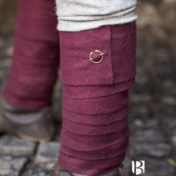 Leg wrappings Aki, red