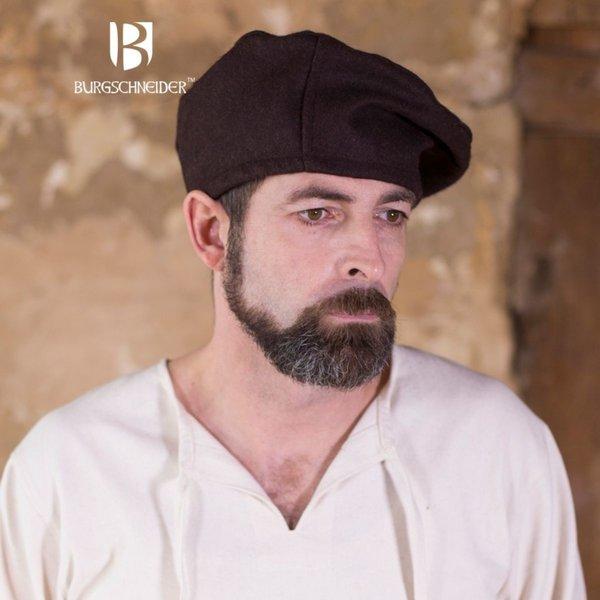 Burgschneider Beret Harald wool, brown