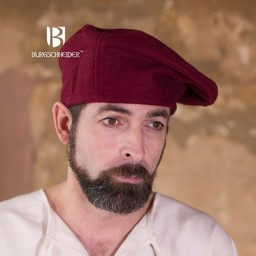 Beret Harald Wolle, rot