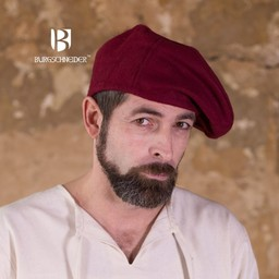 Beret Harald wool, red