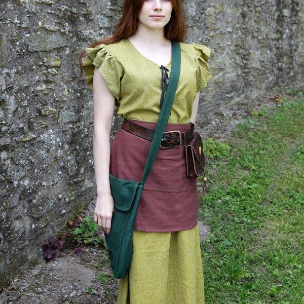 Burgschneider Ehwaz bolsa medieval, verde