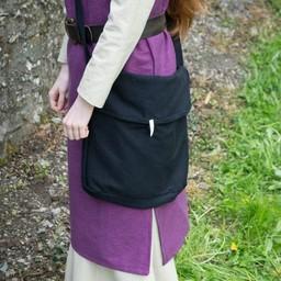 Middeleeuwse tas Ehwaz, zwart