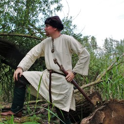 Historical tunic with authentic lining, cream
