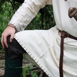 Historyczna tunika z autentyczną podszewką, kremem