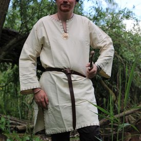 Tunic with authentic lining, cream